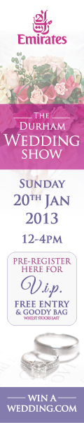 Durham Wedding Show Sunday 20th Jan 2013