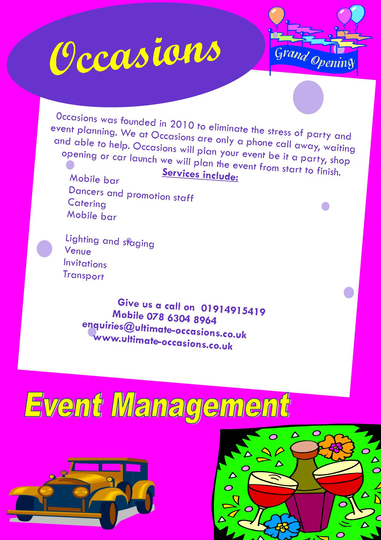 Occasions Event Management Logo